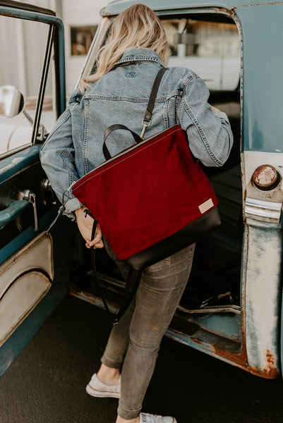 The Rouge Backpack + Crossbody in Waxed Canvas - Meant Mfg.
