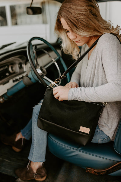 The Alsea Crossbody in Waxed Canvas - Meant Mfg.
