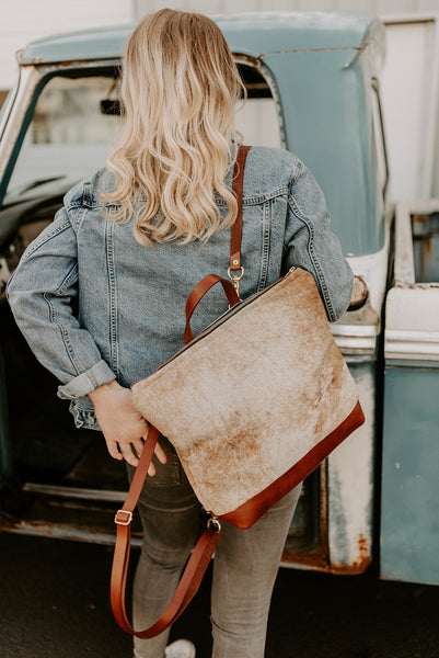 The Rouge Backpack + Crossbody in Cowhide - Meant Mfg.