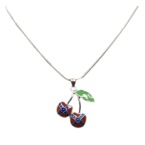 "12"" Cherry Confederate Flag Necklace"
