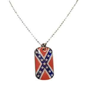 "14"" Confederate Flag Dog Chain"