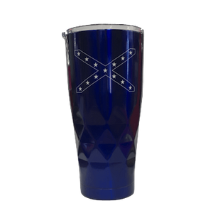 20oz Blue Confederate Flag Geometric Tumbler