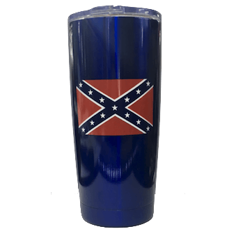 20oz Blue Confederate Flag Stainless Steel Tumbler