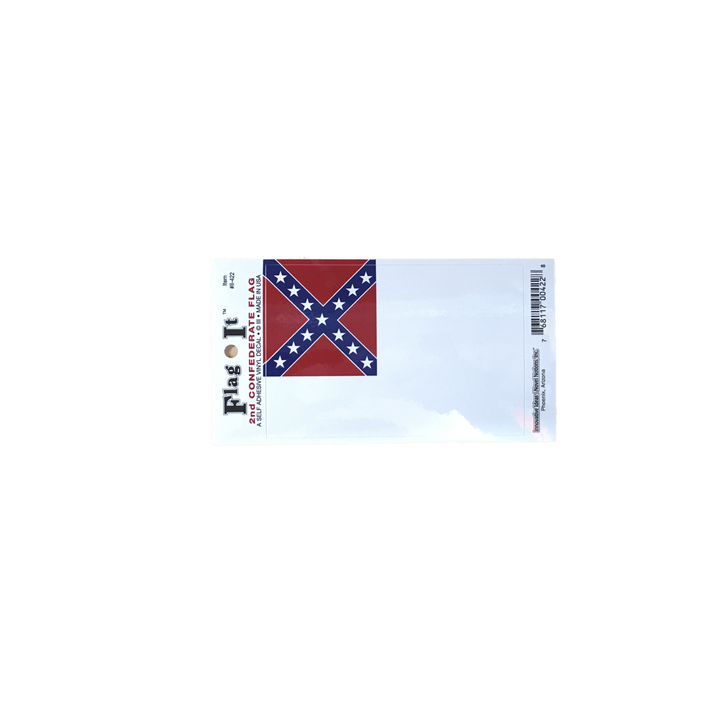 2nd Confederate Flag Sticker (small)