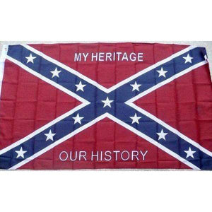 "3' x 5' ""My Heritage, Our History"" Confederate Flag"