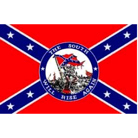 "3' x 5' Polyester ""The South Will Rise Again"" Flag"