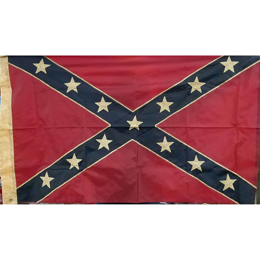 3' x 5' Vintage Embroidered Confederate Flag