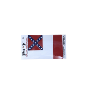 3rd Confederate Flag Sticker (small)