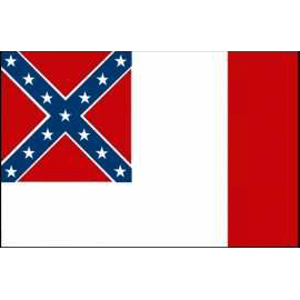 3'x5' 3rd Confederate Flag