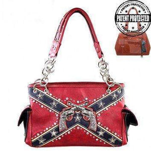 Revolver Confederate Flag Handbag