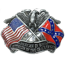 American By Birth Belt Buckle V.1