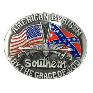 American By Birth Belt Buckle V.2