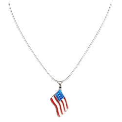 American Flag Necklace