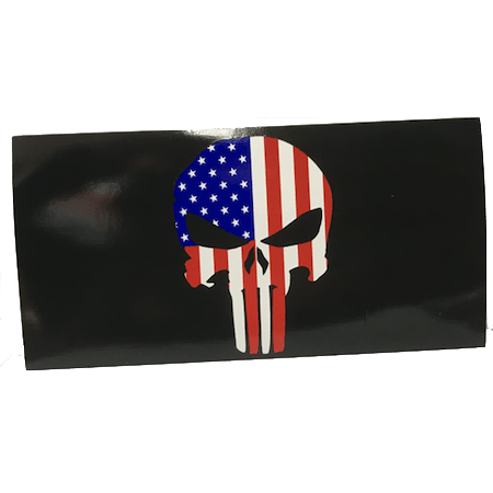 American Flag Punisher Skull Sticker