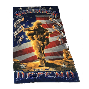 American Solider Velour Towel