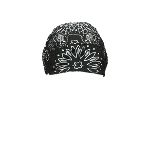 Black Paisley  Head Wrap