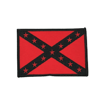 Blackout Confederate Flag Iron On Patch