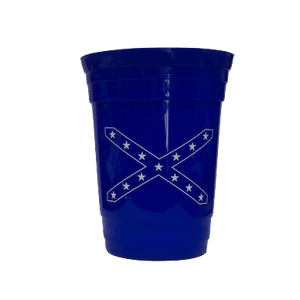 Blue Confederate Flag Solo Cup