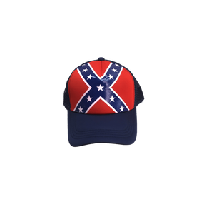 Blue Confederate Flag Trucker Hat