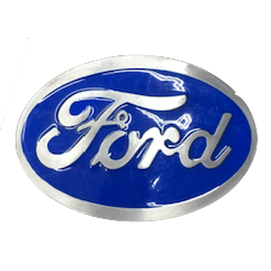 Blue Ford Belt Buckle