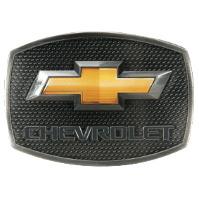 Chevy Gold Bow Belt Buckle