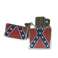 Confederate Flag Bandana and Lighter Set