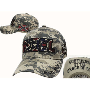 Confederate flag Camo Hat 'Rebel Pride'