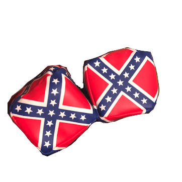 Confederate Flag Car Dice