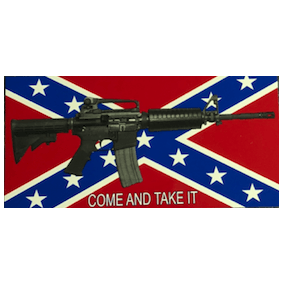 "Confederate Flag ""Come and Take It"" V.2 Sticker"