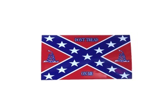 Confederate Flag Don't Tread On Me Sticker
