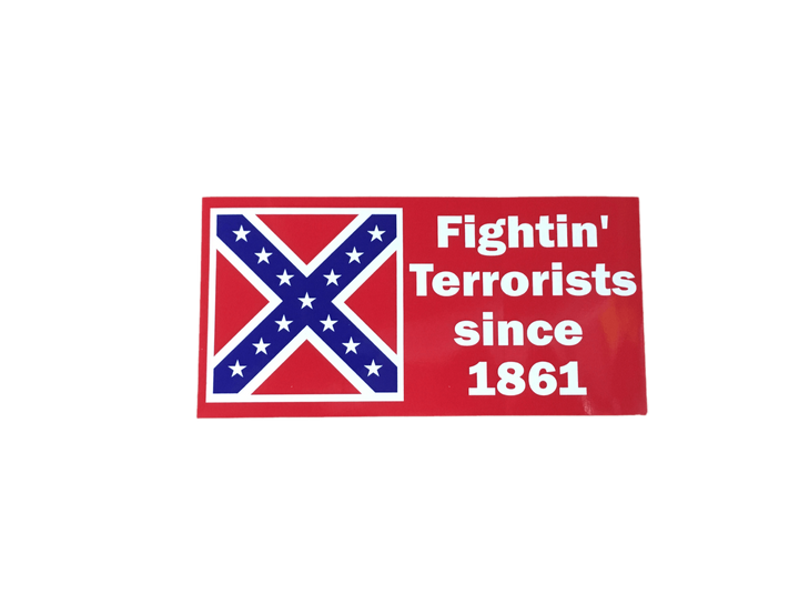 Confederate Flag Fightin' Terrorists Sticker