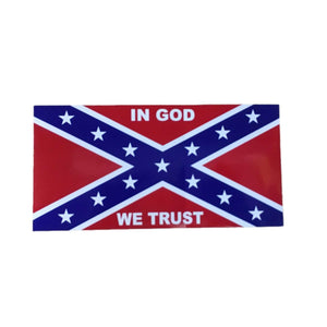 "Confederate Flag ""In God We Trust"" Sticker"