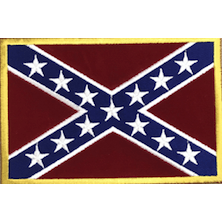Confederate Flag Iron-On Patch (Medium)