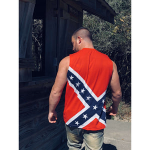 Confederate Flag Muscle Tank Top