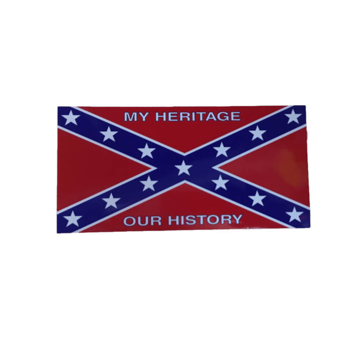 "Confederate Flag ""My Heritage Our History"" Sticker"