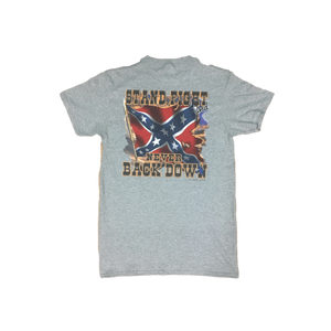 Confederate Flag Never Back Down T-Shirt
