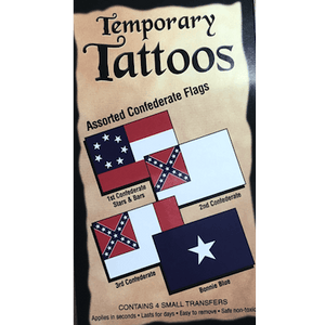 Confederate Flag Temporary Tattoos