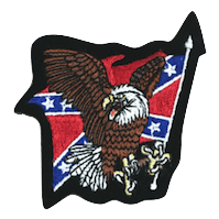 Confederate Flag with Eagle Iron On Patch