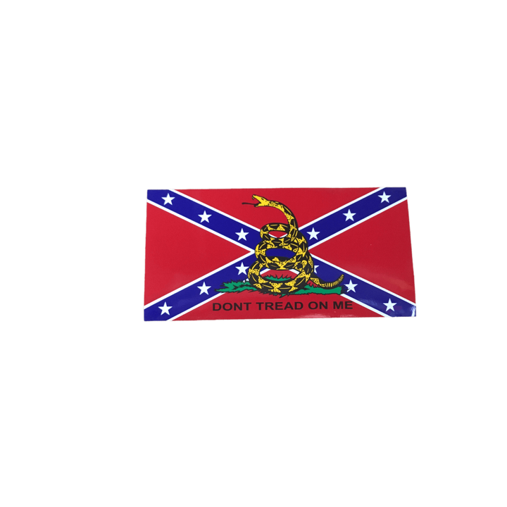 Confederate Flag with Gadsden Snake Sticker