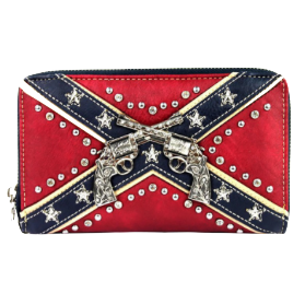 Confederate Flag Women's Wristlet