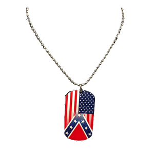 Confederate Transition Flag Dog Chain