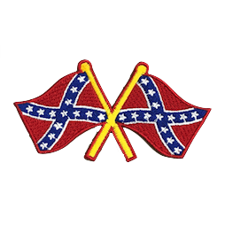 Crossing Confederate Flags Iron-On Patch