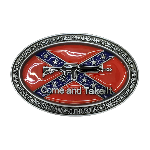 "CSA ""Come And Take It"" M16 Belt Buckle"