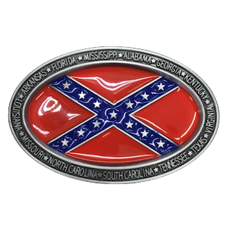 CSA Confederate Flag Belt Buckle
