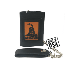 Don't Tread On Me Black Leather Wallet
