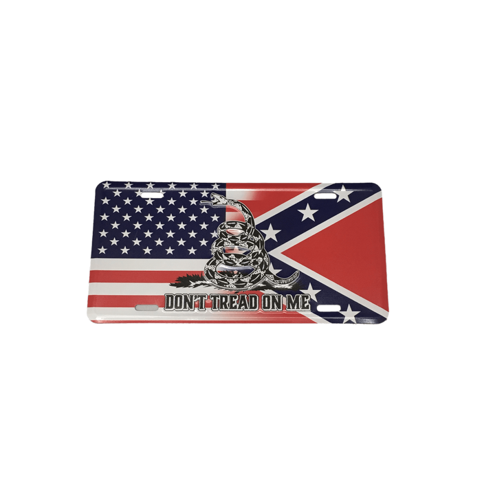 Don't Tread On Me Confederate Transition Flag License Plate