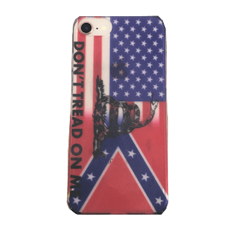 """Don't Tread On Me"" Confederate Transition iPhone Case"