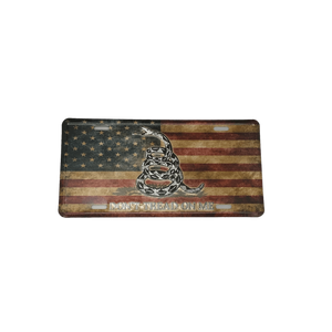 Don't Tread On Me Vintage American Flag License Plate