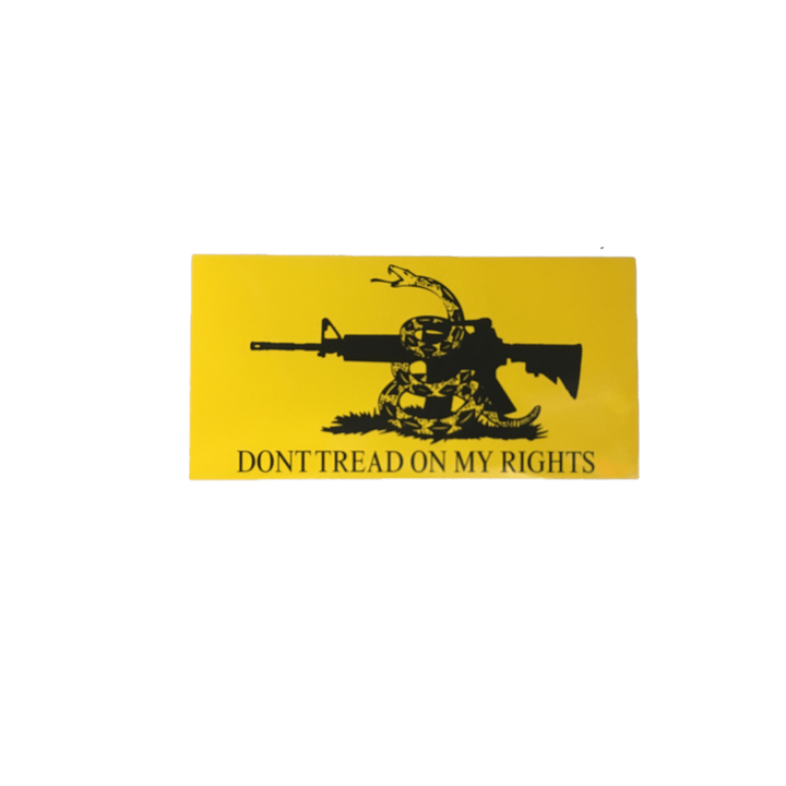 Don't Tread On My Rights Sticker