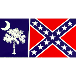 Flag of South Carolina with Confederate Flag Sticker